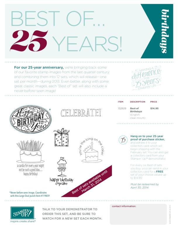 Best of Birthdays 25th Year Flyer