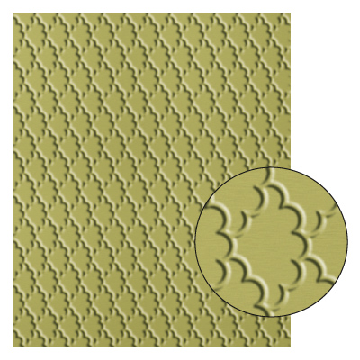 Fancy Fan Textured Impressions Embossing Folder