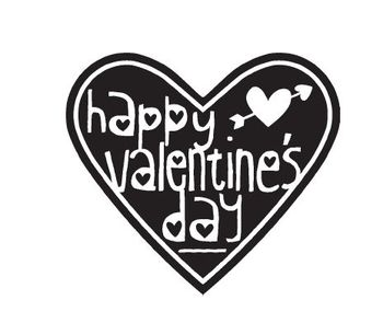Happy Valentine Heart Single