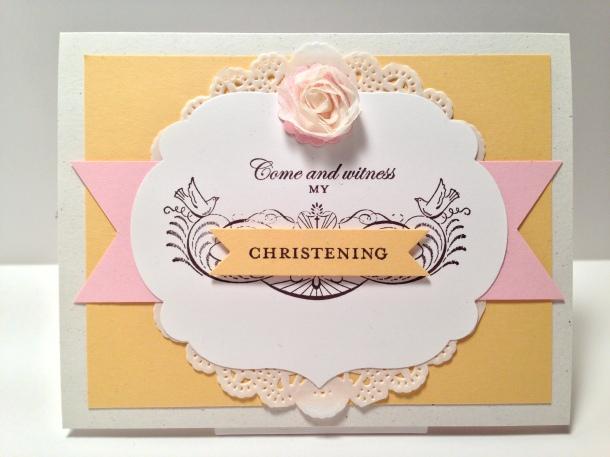 Stylin' Stampin' Blog Hop Christening