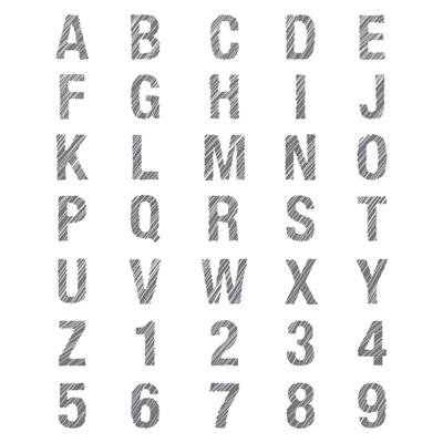ABC & 123 Sketch Alphabet CM