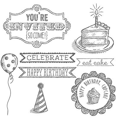 Sketched Birthday CM