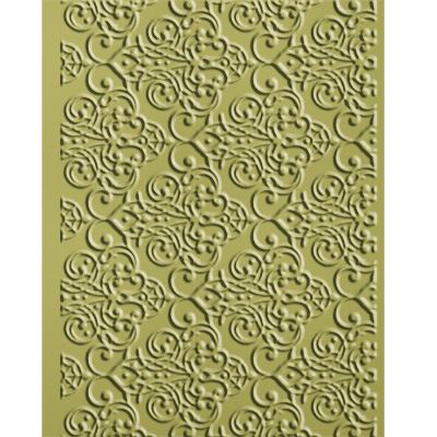 Lacy Brocade Embossing Folder