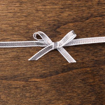 Silver 1:8%22 Ribbon