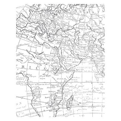 World Map Background Stamp CM
