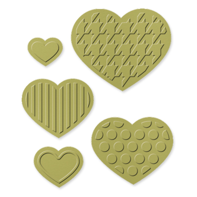 Fashionable Hearts Embosslits Die