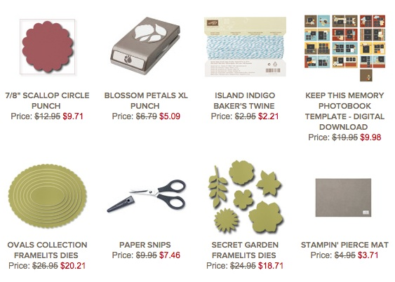 Stampin' Up! Weekly Deals 10-29-2013
