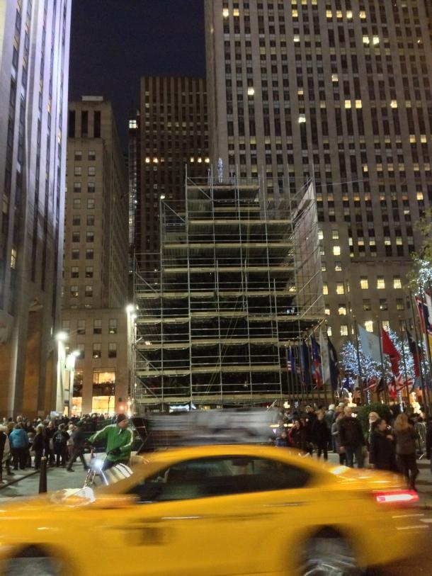 Rockefeller Centre Tree Scaffolding