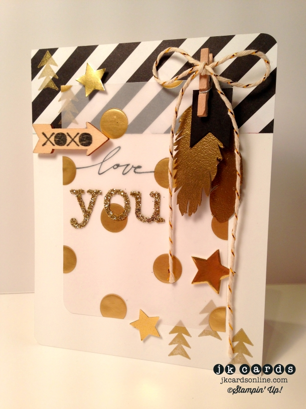 Feathered Gold Love You-WM