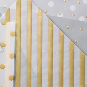 Gold Fancy Foil Vellum