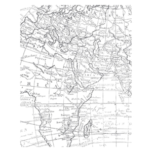 World Map Background Stamp CM