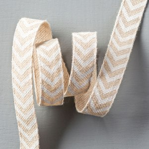 Natural 5:8%22 Chevron Ribbon