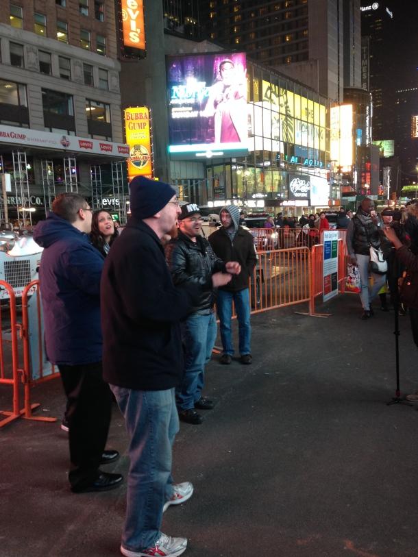Satellite Lane Times Square 4-2014