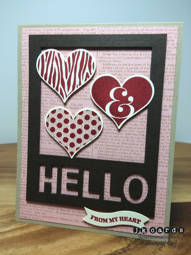 Framed Hello from the Heart-WM