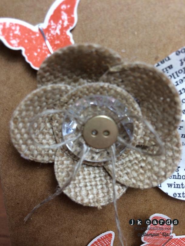 Creation Station Tour 8 - Burlap Flower