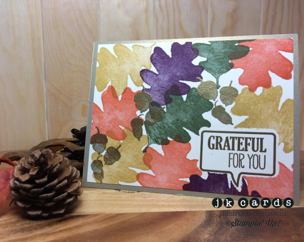 Creation Station Tour 10 Leaves Card-WM